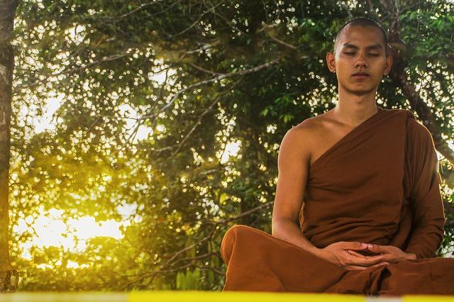 meditace mnicha
