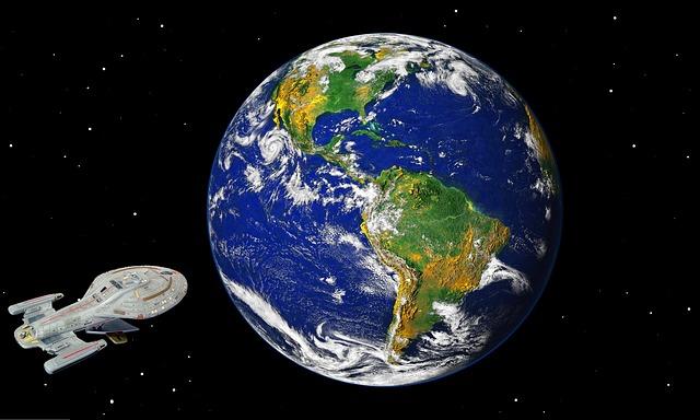 vesmírná loď Voyager na orbitě Země