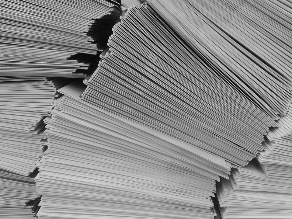 papírové obálky
